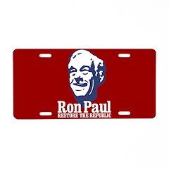 Restore the Republic Aluminum License Plate