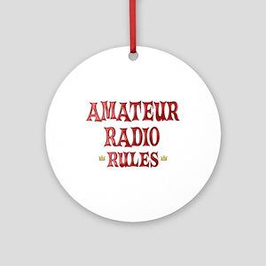 Amateur Radio Rules Ornament (Round)