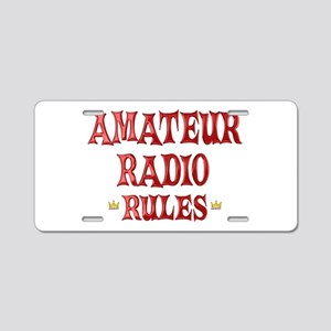 Amateur Radio Rules Aluminum License Plate