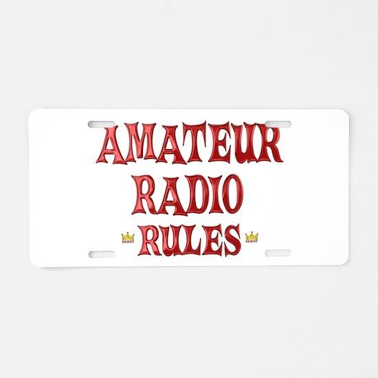 Amateur Radio Rules Aluminum License Plate