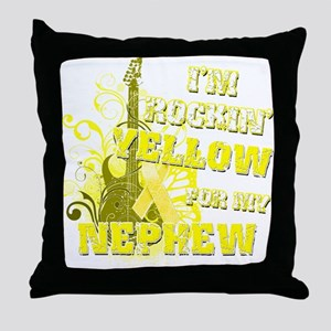 I'm Rockin' Yellow for my Nep Throw Pillow