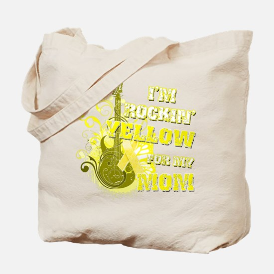 I'm Rockin' Yellow for my Mom Tote Bag