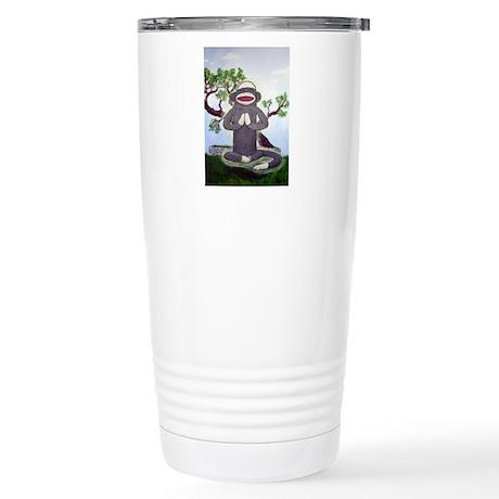 Sock Monkey Nirvana Stainless Steel Travel Mug