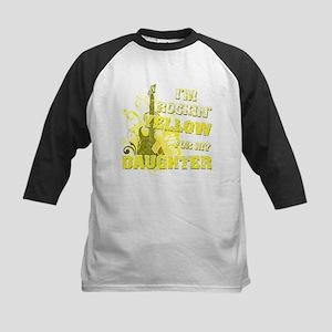 I'm Rockin' Yellow for my Dau Kids Baseball Jersey