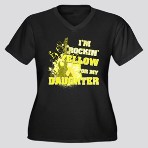 I'm Rockin' Yellow for my Dau Women's Plus Size V-