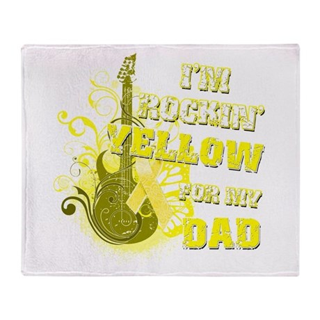 I'm Rockin' Yellow for my Dad Throw Blanket