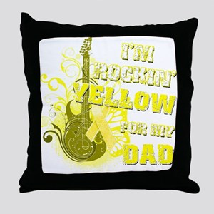 I'm Rockin' Yellow for my Dad Throw Pillow