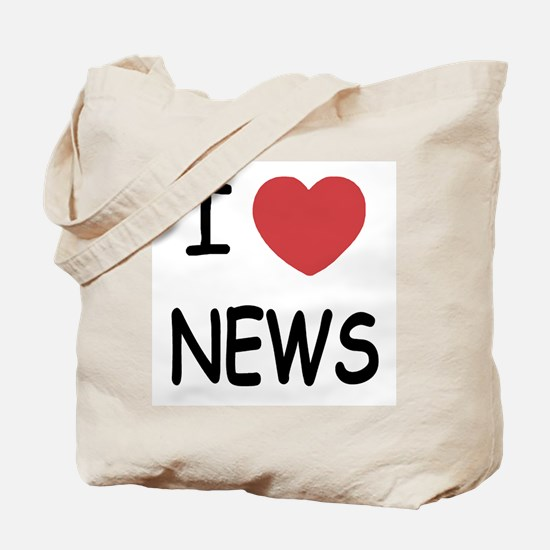 I heart news Tote Bag