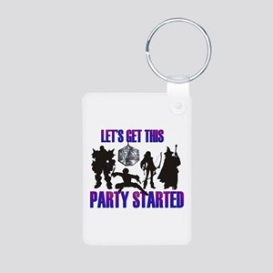 Party Started Aluminum Photo Keychain