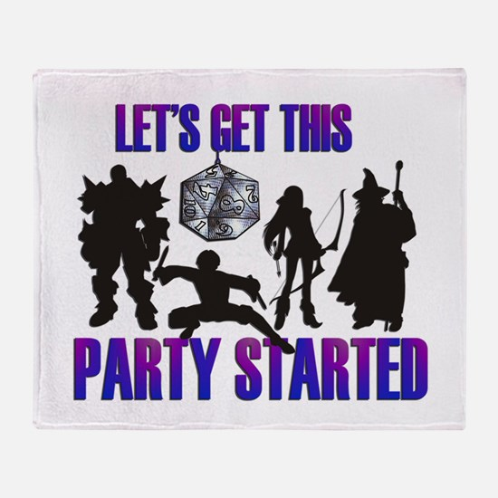 Party Started Throw Blanket