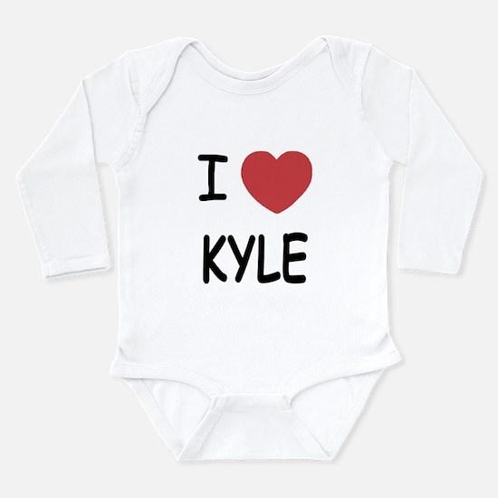 I heart kyle Long Sleeve Infant Bodysuit