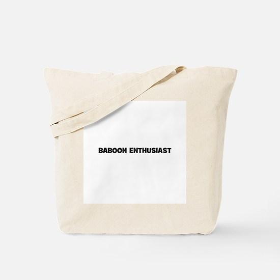 Baboon Enthusiast Tote Bag