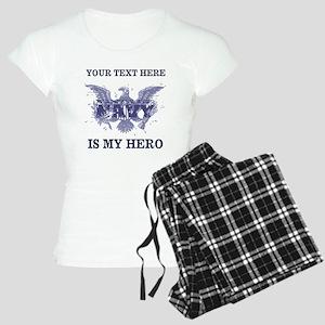Personalizeable Navy Hero Women's Light Pajamas