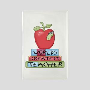 Worlds Greatest Teacher Rectangle Magnet