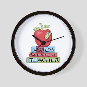 Worlds Greatest Teacher Wall Clock