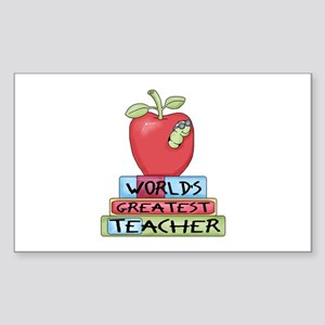 Worlds Greatest Teacher Sticker (Rectangle)