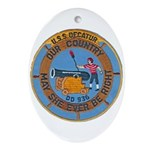 USS DECATUR Ornament (Oval)