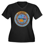 USS DECATUR Women's Plus Size V-Neck Dark T-Shirt