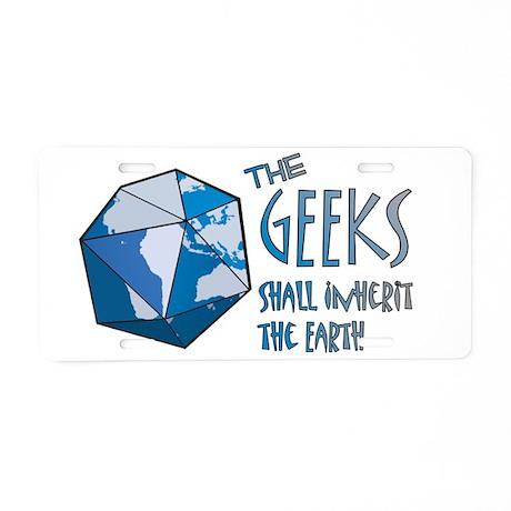 Geeks Inherit Aluminum License Plate