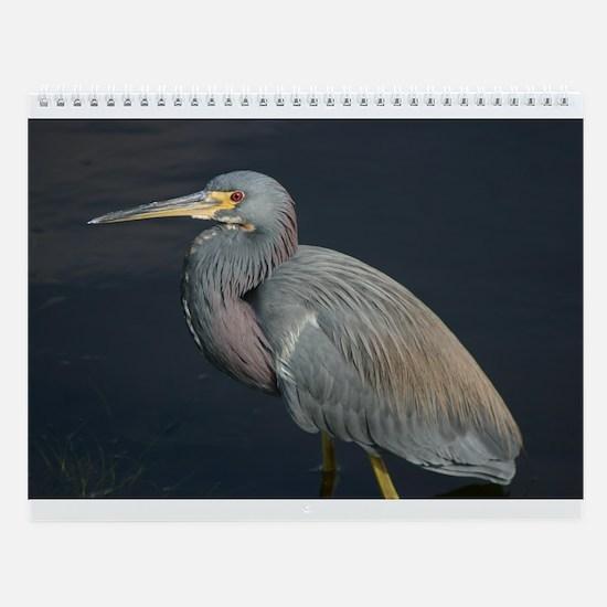 Cute Blue heron Wall Calendar
