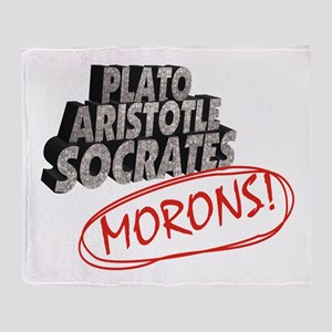 Morons Throw Blanket