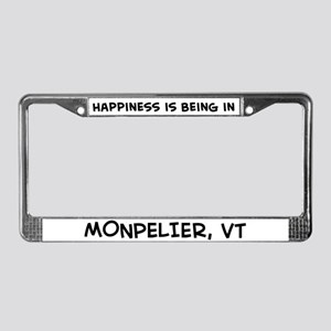 Happiness is Monpelier License Plate Frame