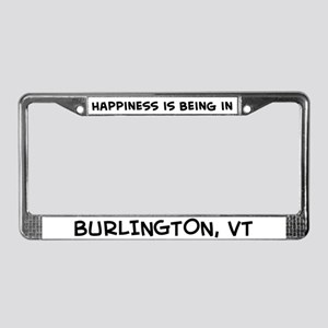 Happiness is Burlington License Plate Frame