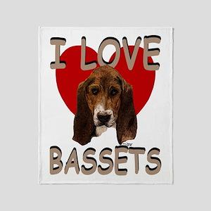 I love Bassets Throw Blanket