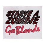 Starve a Zombie Throw Blanket