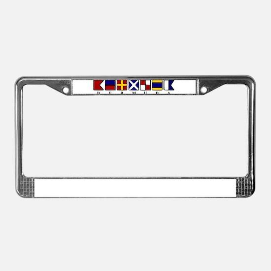 Nautical Bermuda License Plate Frame