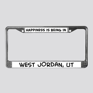 Happiness is West Jordan License Plate Frame