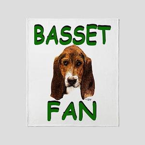 Basset Fan Throw Blanket