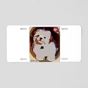 Shihtzu puppy Aluminum License Plate