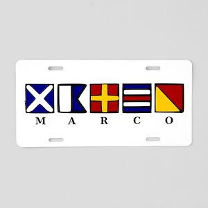 Marco Island Aluminum License Plate