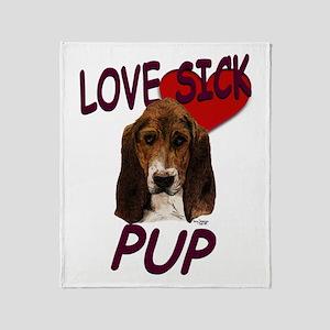 Love Sick Basset Throw Blanket