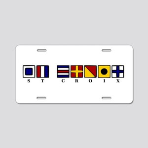 Nautical St. Croix Aluminum License Plate