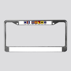 Nautical St. Croix License Plate Frame