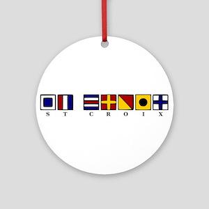 Nautical St. Croix Ornament (Round)