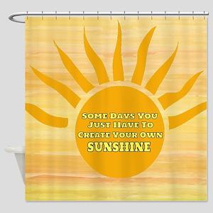 Create Your Own Sunshine Shower Curtain