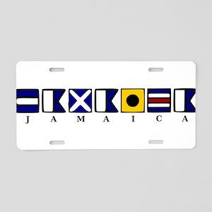 Nautical Jamaica Aluminum License Plate