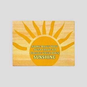 Create Your Own Sunshine 5'x7'Area Rug