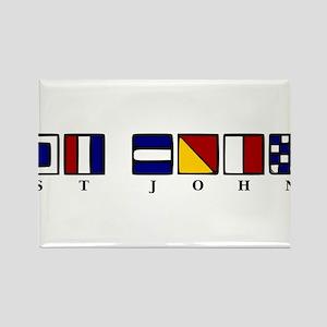 St. John Rectangle Magnet