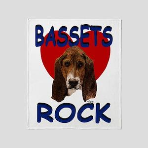 Bassets Rock Throw Blanket