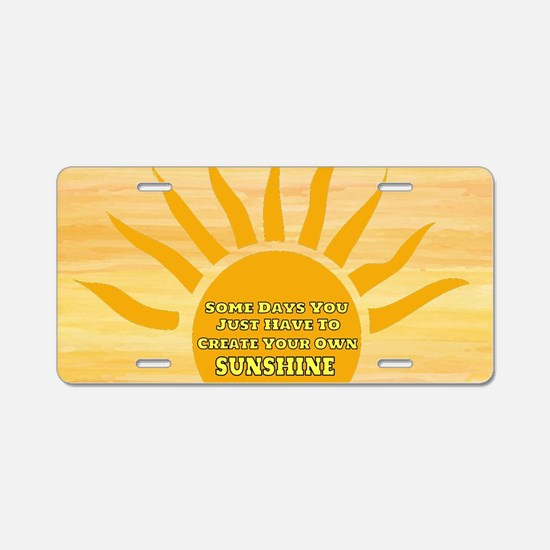 Create Your Own Sunshine Aluminum License Plate