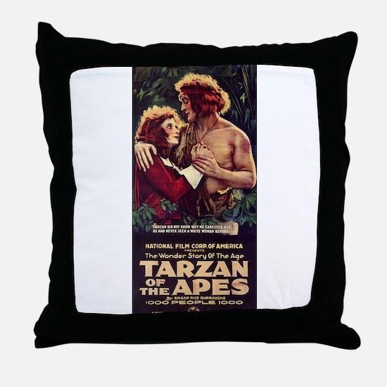 Adult Tarzan Throw Pillow