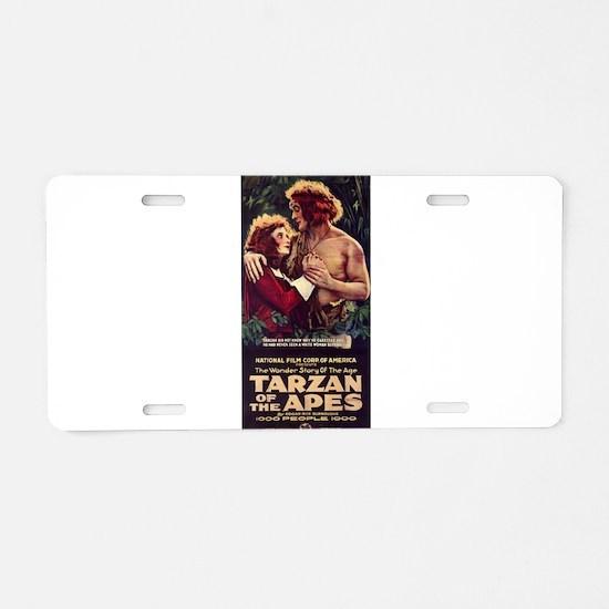 Adult Tarzan Aluminum License Plate