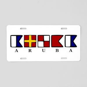 Nautical Aruba Aluminum License Plate