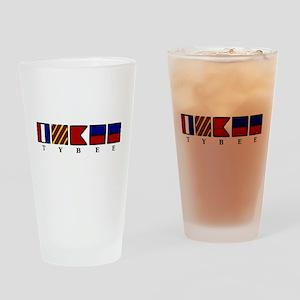 Nautical Tybee Island Drinking Glass