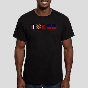 Nautical Tybee Island Men's Fitted T-Shirt (dark)