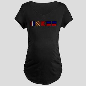 Nautical Tybee Island Maternity Dark T-Shirt